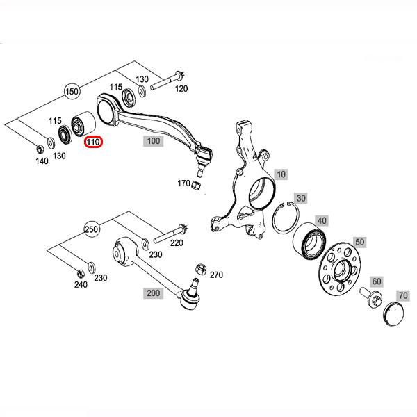 【楽天市場】MEYLE製 ベンツ Cクラス W203 W204 フロント ラジアスアームブッシュ 左右セット HD