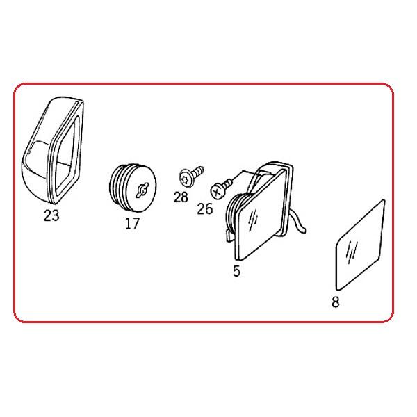 【楽天市場】ベンツ W202 ドアミラー/サイドミラー 左側 未塗装カバー付き2108106316