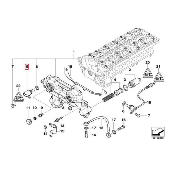 【楽天市場】BMW E46 E90 E91 カムシャフトポジションセンサー/カムセンサー 12147518628