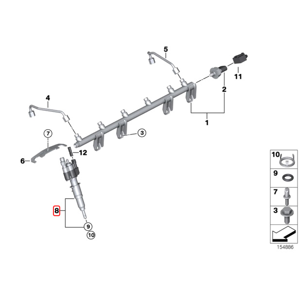 【楽天市場】純正OEM VDO製 BMW F01 F02 インジェクター/インジェクションノズル