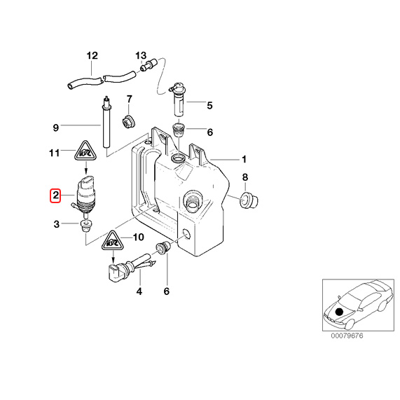 【楽天市場】純正OEM VDO製 BMW E36 E46 E91 ウィンドウウォッシャーポンプ