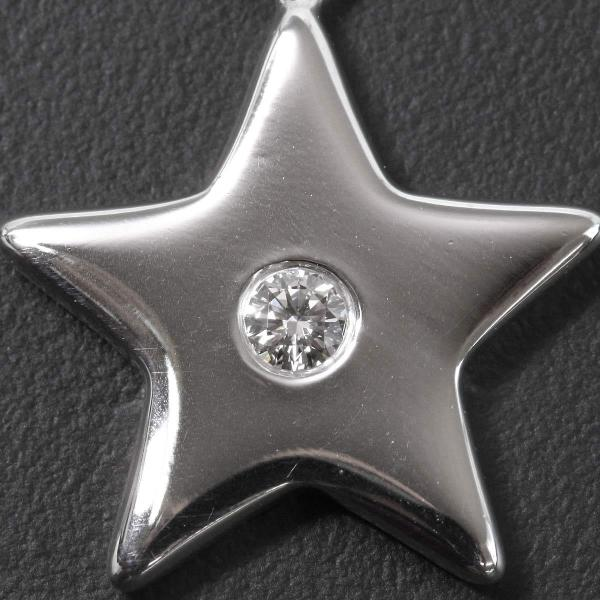 Purpose Tiffany Star Motif Diamond 1p Necklace 40cm