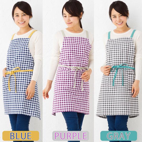 kitchen apron for kids gadget gifts 可爱围裙美林格子复选模式0879年厨房用品棉围裙烹饪的礼物 rupola 日本乐天市场