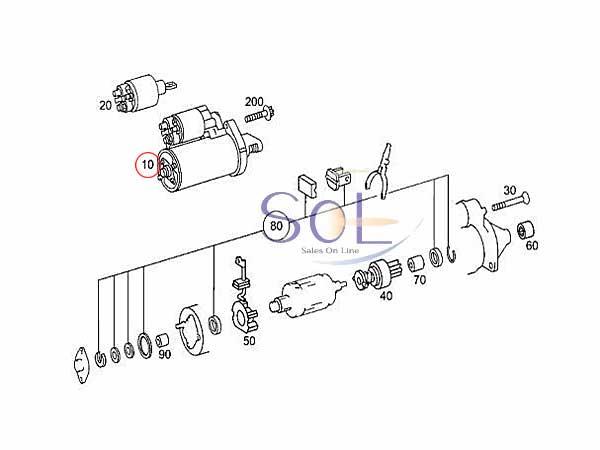【楽天市場】ベンツ W211 W215 W219 W220 スターター セルモーター E500 E55 CL500