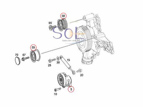 【楽天市場】ベンツ W221 R230 R171 W209 W219 M272エンジン ベルトテンショナー ガイド