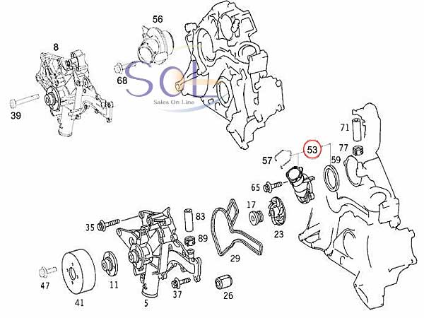 【楽天市場】ベンツ W210 W211 W163 W463 サーモスタット E240 E320 E430 E500