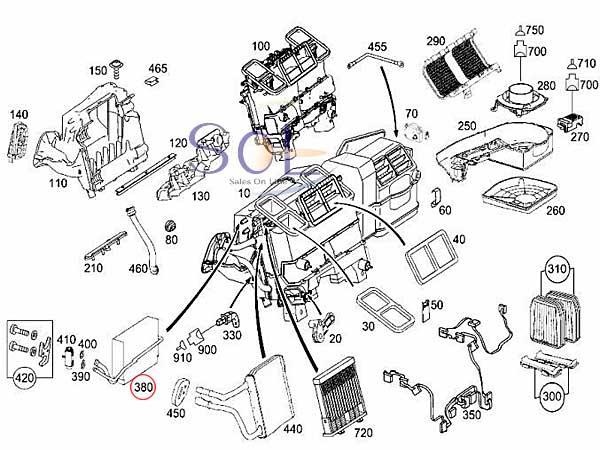 【楽天市場】【特価品】ベンツ W211 W219 エバポレーター Oリング付 E240 E280 E300 E320