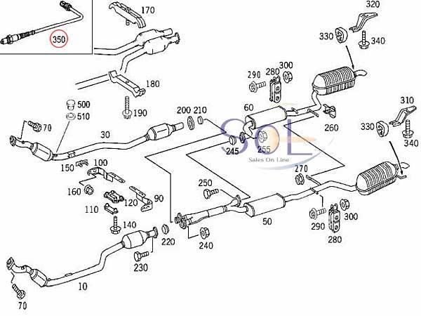 【楽天市場】ベンツ W210 W220 R129 ラムダコントロールセンサー(O2センサー) BOSCH E240