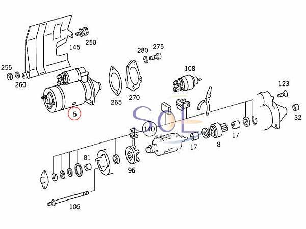 【楽天市場】ベンツ W220 W221 W163 W164 スターター セルモーター S320 S350 ML320
