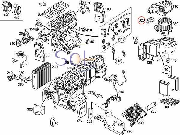【楽天市場】ベンツ W463 エアコン ブロアレギュレーター G320 G500 G550 G55
