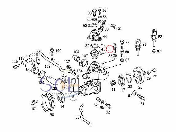 【楽天市場】ベンツ W202 W638 R129 W463 クーラント 水温センサー G320 G500 SL500