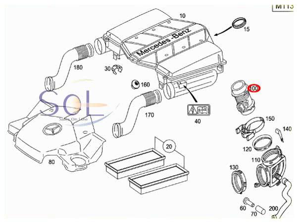 【楽天市場】ベンツ W219 W210 W211 エアマスセンサー エアフロメーター CLS500 CLS55