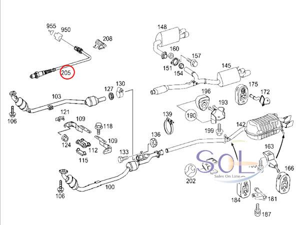 【楽天市場】ベンツ W211 W212 W216 W219 W221 ラムダセンサー(O2センサー) E280