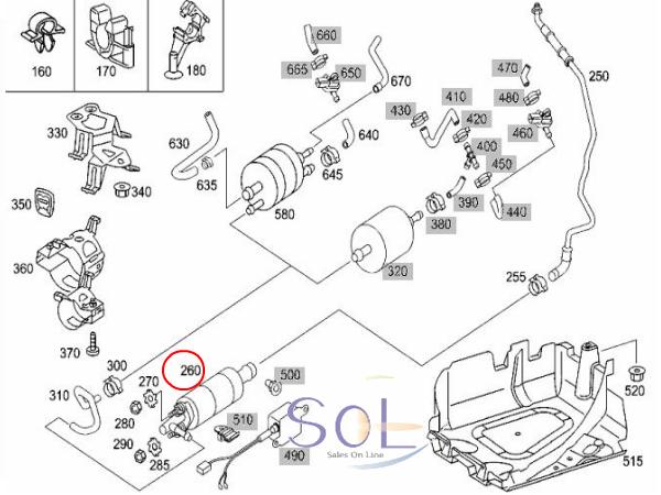 【楽天市場】ベンツ W215 W220 R230 フューエルポンプ 燃料ポンプ ガソリンポンプ CL500