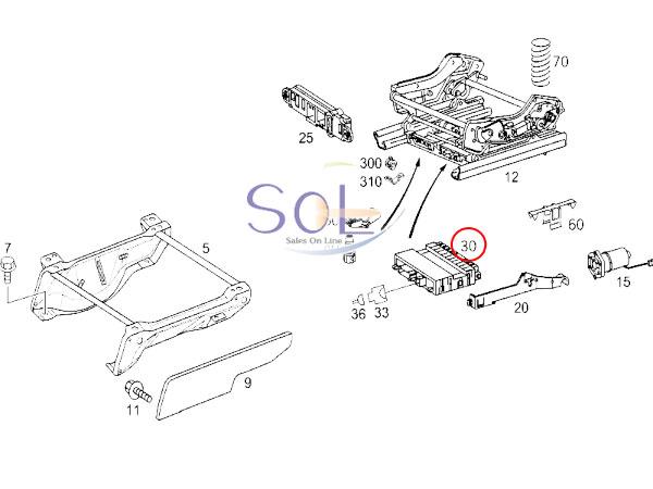 【楽天市場】ベンツ W211 W463 パワーシート コントロールユニット リレーユニット 運転席側 E240