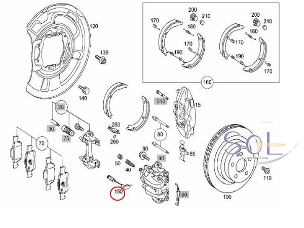 【楽天市場】ベンツ W204 W205 W216 W218 W219 W209 フロント/リア ブレーキパッド