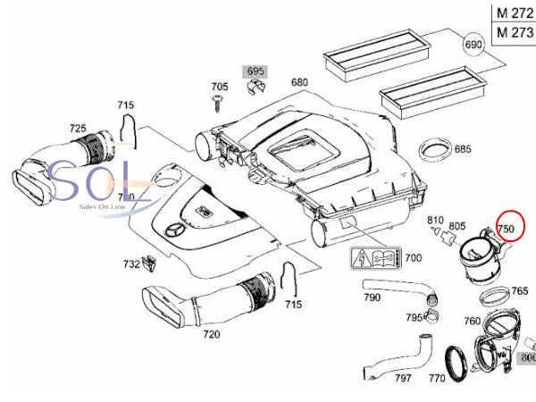 【楽天市場】ベンツ W211 W212 W207 W221 R171 エアマスセンサー エアフロメーター E280