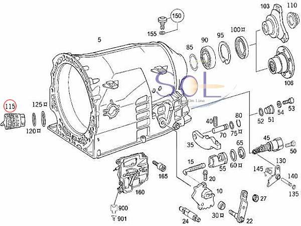 【楽天市場】ベンツ W215 W216 W463 722.6系 5速AT ミッションカプラー オイルフィルター