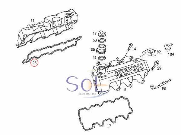 【楽天市場】ベンツ W202 W203 W208 W209 シリンダーヘッドカバーガスケット 右側 C240