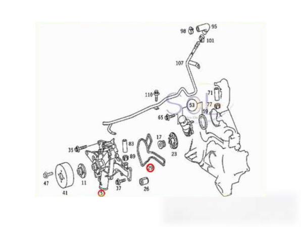 【楽天市場】ベンツ R129 R170 W251 ウォーターポンプ SL320 SL500 SLK230