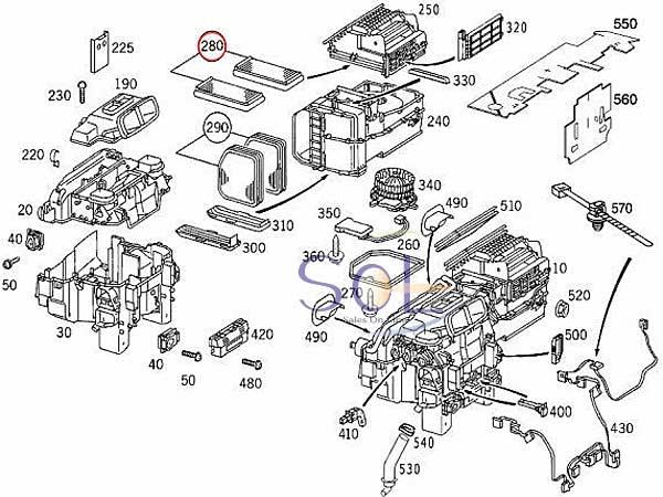【楽天市場】ベンツ W210 W215 エアコンフィルター 外気用 2枚セット E230 E240 E320