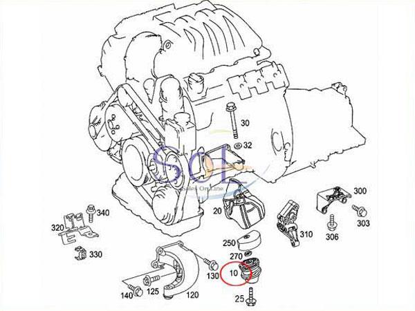 【楽天市場】ベンツ W220 W215 R230 エンジンマウント 左右セット S320 S350 S430