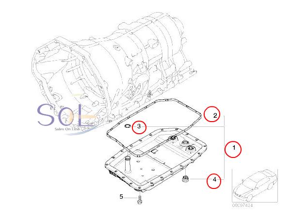 【楽天市場】BMW E65 E66 F01 F02 オイルパン フィルター付 (ガスケット・Oリング・ドレンプラグ