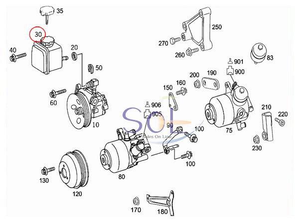 【楽天市場】ベンツ W202 W203 W208 W209 W251 パワステオイルタンク C240 C280
