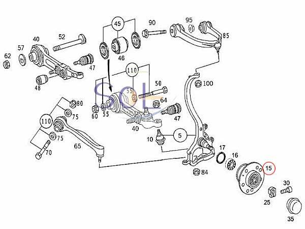 【楽天市場】ベンツ W220 W215 フロント ホイールハブベアリング リペアキット S320 S350 S430