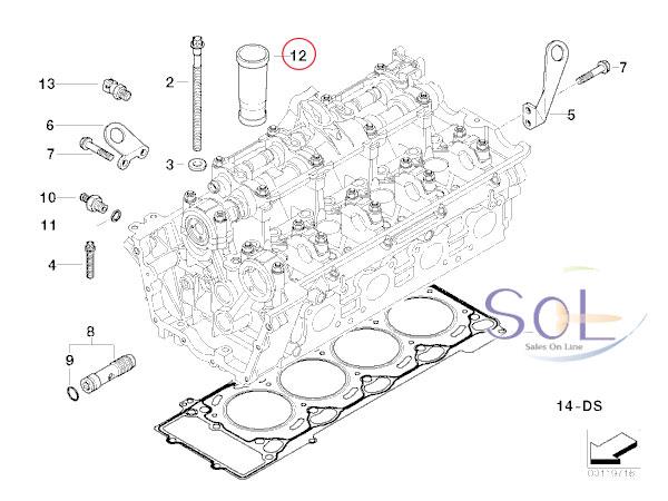 【楽天市場】BMW E65 E66 E53 E70 X5 スパークプラグパイプ ガスケット 735i 740i