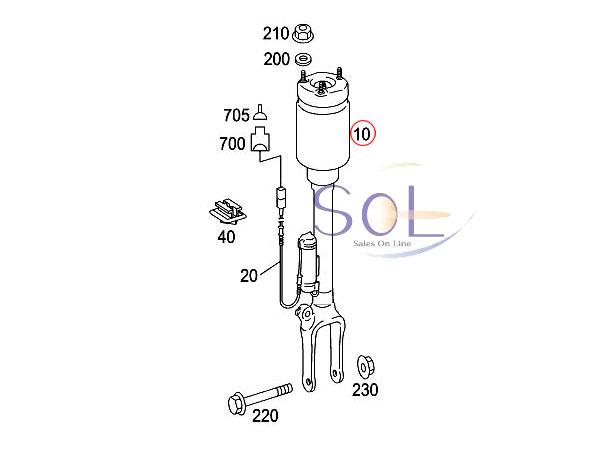 【楽天市場】ベンツ W164 エアサス フロント 左右セット ML350 ML500 ML550 ML63AMG