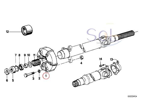 【楽天市場】BMW E82 E88 E87 E36 E46 プロペラシャフト ジョイントディスク(LK=78MM/D