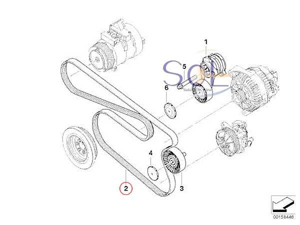 【楽天市場】BMW E87 E90 E91 E92 E60 E61 ACコンプレッサー&オルタネーター側 ファン