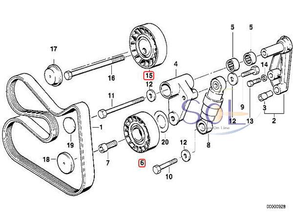 【楽天市場】BMW E36 E46 E34 E39 ベルトテンショナー ガイドプーリー 2点セット 318i