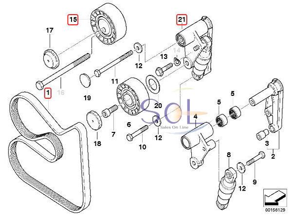 【楽天市場】BMW E34 E39 油圧式 ベルトテンショナー ガイドプーリー ベルト 3点セット 520i