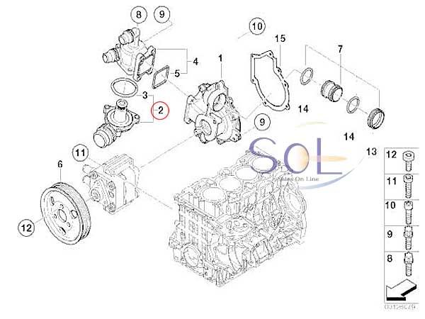 【楽天市場】BMW E46 E90 E91 E92 サーモスタット 318i 320i 11537510959:欧州