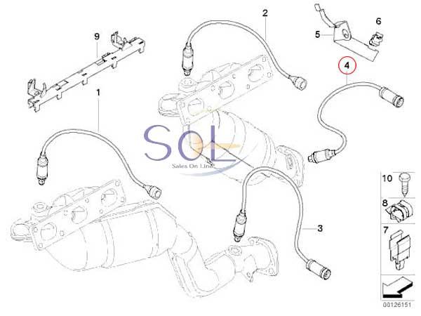 【楽天市場】BMW E60 E61 E83 X3 E85 Z4 ラムダセンサー O2センサー 525i 530i 2