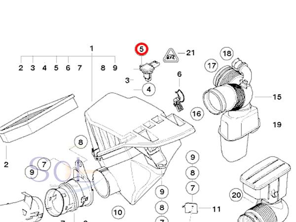 【楽天市場】BMW E87 E90 E91 E92 E60 E61 エアマスセンサー エアフロメーター 130i