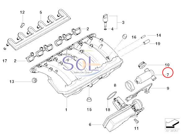 【楽天市場】BMW E36 E46 E34 E39 E60 E61 アイドルバルブ T字型 BOSCH 320i