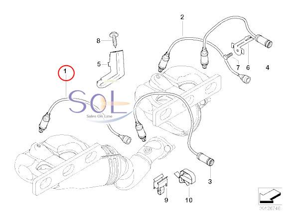 【楽天市場】BMW E46 E39 E60 E61 E38 ラムダコントロールセンサー(O2センサー) BOSCH