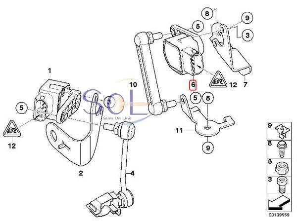 【楽天市場】BMW E46 E90 E91 E92 E93 ヘッドライト光軸調整センサー ハイスタンドセンサー