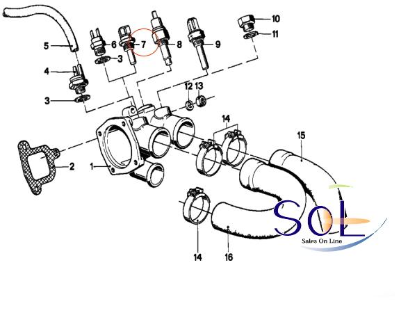 【楽天市場】BMW E30 E34 E36 水温センサー テンプセンサー Oリング付 318i 320i 325i