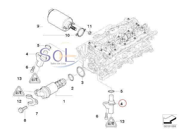 【楽天市場】BMW E82 E87 E88 E90 E91 E92 E93 カムシャフトセンサー パルスセンサー