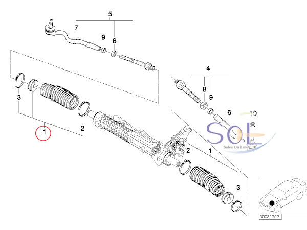 【楽天市場】BMW E46 ステアリングタイロッドダストカバー ステアリングラックブーツ リペアキット 4点セット