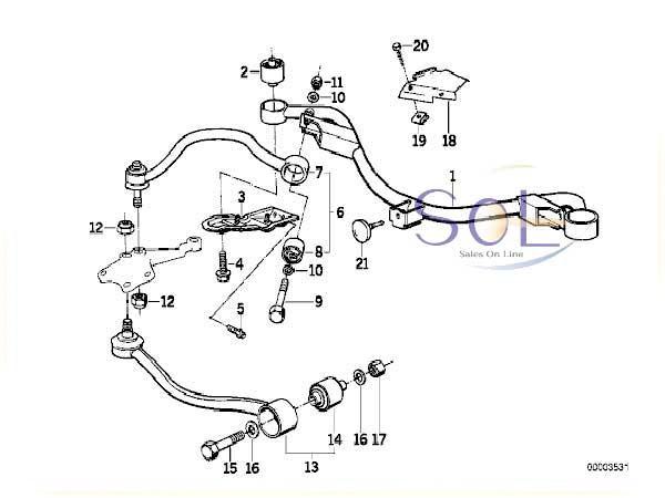【楽天市場】【特価品】BMW E34 フロント コントロールアーム 左側 520i 525i 530i 535i