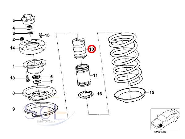 【楽天市場】BMW E30 E36 E34 E39 フロント ショック バンプラバー 補助ダンパー 左右セット