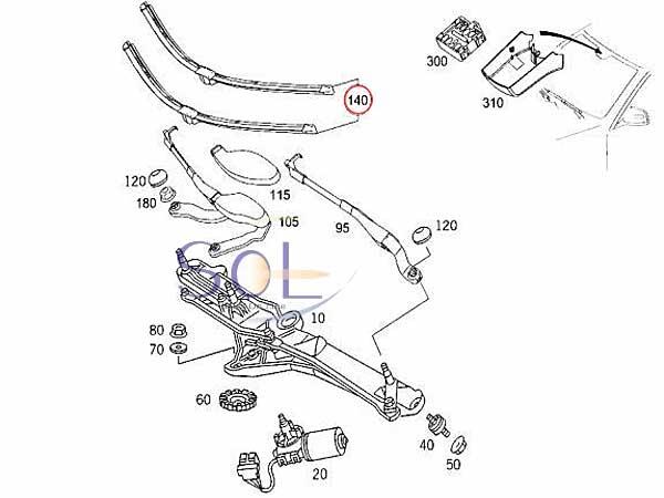 【楽天市場】ベンツ W221 W216 ワイパーブレード セット(左ハンドル車用) S350 S500 S550