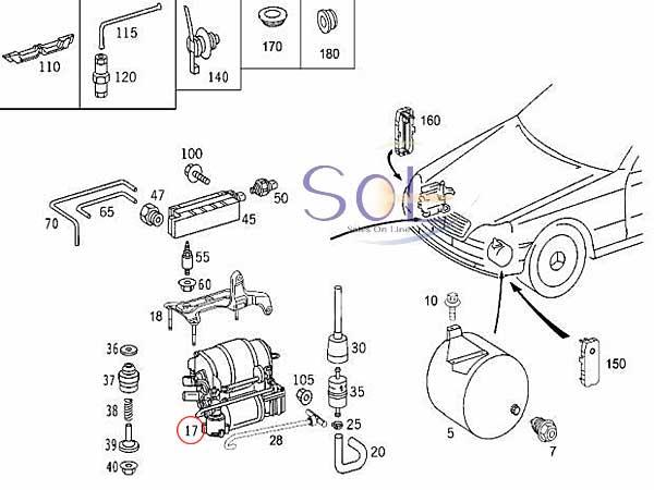 【楽天市場】ベンツ W211 W219 W220 エアサスコンプレッサー エアサスポンプ リレー付 E240