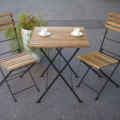 Folding Wooden Chairs Lowes Zero Gravity Select Tool Shop Iron Teak Table And 2 3 Piece Set Garden Furniture Chair Patio Balcony Diy
