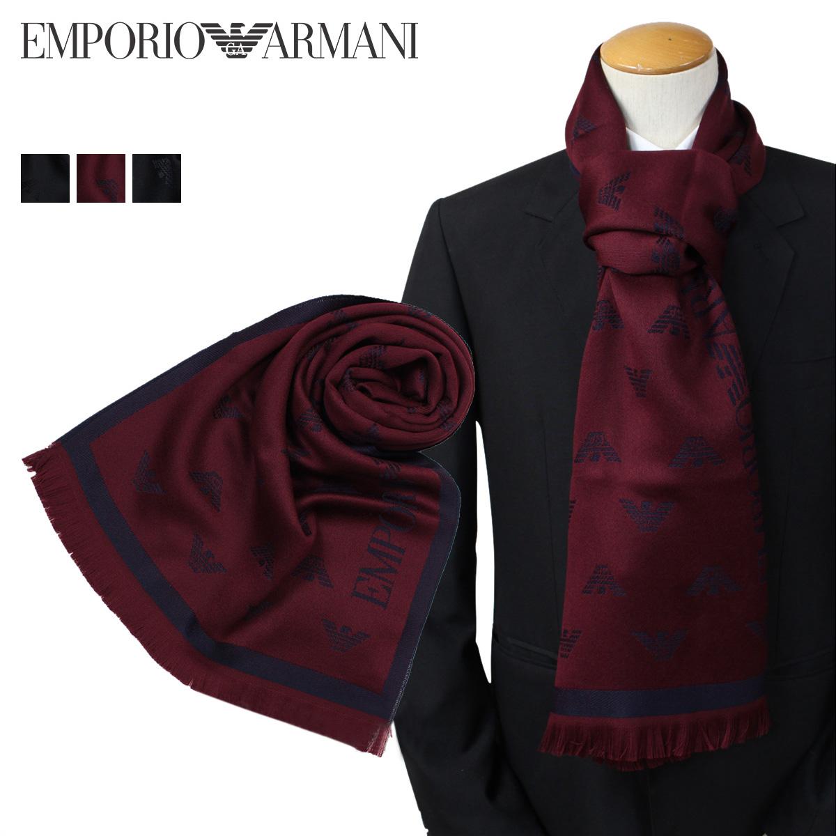 【楽天市場】エンポリオ アルマーニ マフラー メンズ EMPORIO ARMANI ウール イタリア製 ビジ...